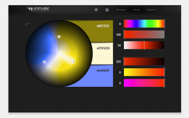 Mudcube Color Sphere- Color Scheme Website
