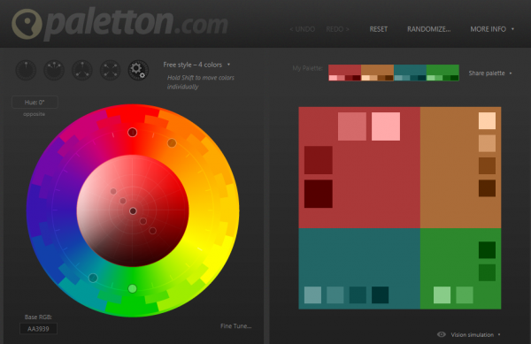 Paletton- Color Scheme Website