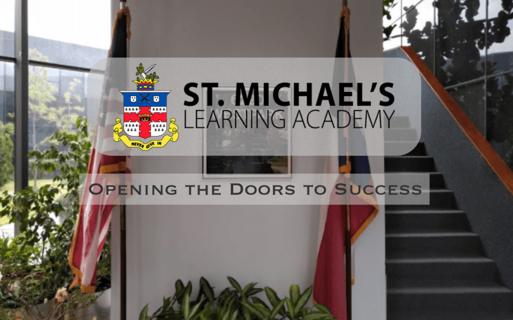 St. Michaels Learning academy logo and building