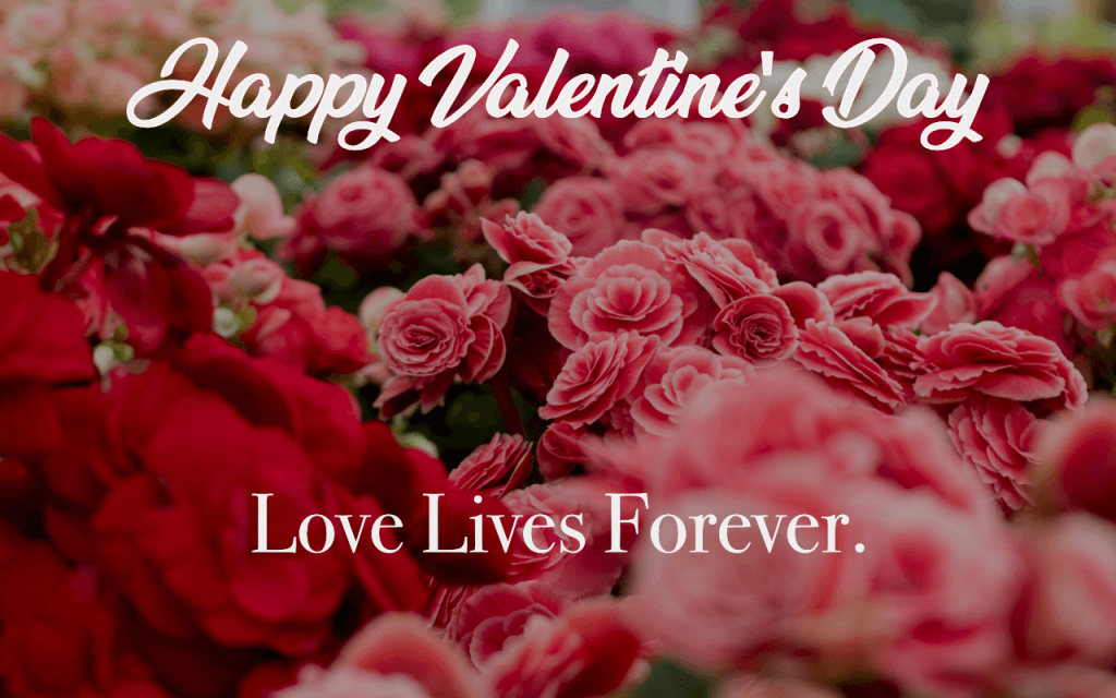 Happy Valentine's Day because love lives forever