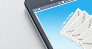 email notification on a mobile device
