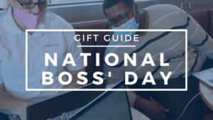 Gift Guide National Boss' Day Graphic