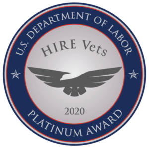 U.S. Department of Labor Hire Vets Platinum Award